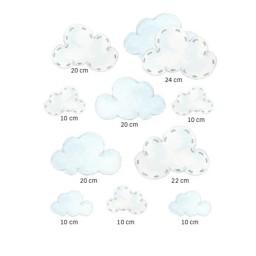 Wandsticker Set Wolken