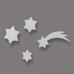 Komet und Sterne