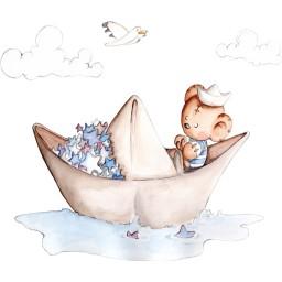 Wandsticker Papierboot