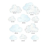 Wandsticker Set Wolken